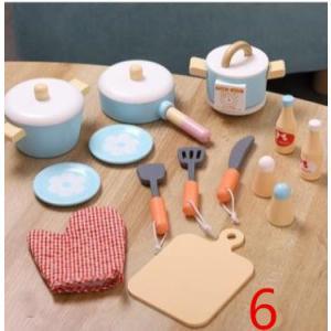 木のおもちゃ(6) 料理セット 鍋 炊飯器 おりょうり まな板 おままごと キッチン 木製 おしゃれ プレゼント 男の子 女の子|zakka-noble-beauty