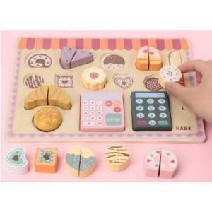 木のおもちゃ お店屋さんごっこ おままごと パン スイーツ レジ 買い物 おしゃれ プレゼント 男の子 女の子|zakka-noble-beauty