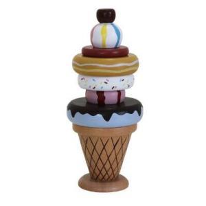 木のおもちゃ アイスクリーム ソフトクリーム おままごと 知育玩具 おしゃれ プレゼント 男の子 女の子|zakka-noble-beauty