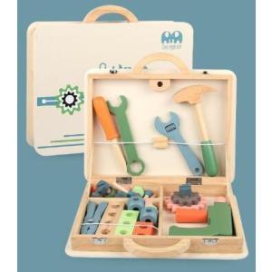 木のおもちゃ 木の工具セット ネジ ボルト おままごと 知育玩具 おしゃれ プレゼント 男の子 女の子|zakka-noble-beauty