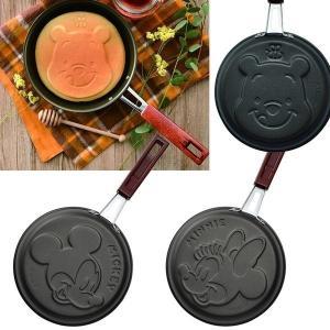 ディズニー パンケーキパン ミッキー ミニー プー 直径16cm フライパン ホットケーキ フッ素加工 日本製 調理器具 クッキング スイーツ|zakka-off