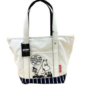 ムーミン 帆布 刺繍 手提げバッグ 730578 「ミイとムーミン ネイビー」サブバッグ ランチバッ...
