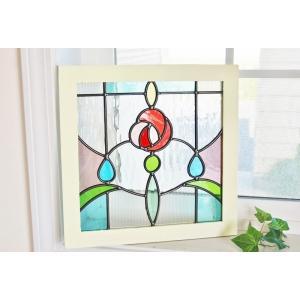 サイズ 幅33cm 縦33cm 厚さ1.5cm ※木製枠、ガラス部分は意図的にアンティーク仕上げを施...