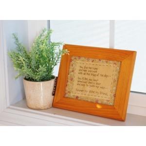 在庫有ります!即日発送!  木製フレームガラス付き刺繍フレーム 吊り金具付き サイズ 幅24cm 厚...