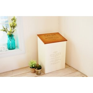 在庫有ります!即日発送!  レトロアンティーク仕上げ木製品  ・内側にゴミ袋(レジ袋)掛けが付いてい...