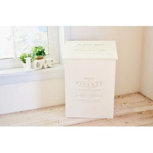 レトロアンティーク仕上げ木製品  ・内側にゴミ袋(レジ袋)掛けが付いています。 取り外し可  サイズ...