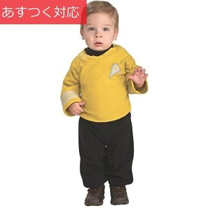 幼児用 スタートレック イントゥ ダークネス キャプテンカーク コスチューム ハロウィン 衣装 USサイズ1-2歳|zakka-park