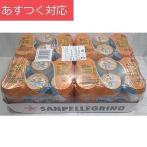 サンペレグリノ アランチャータ オレンジ果汁入り 330ml x 24缶 果汁入り炭酸飲料