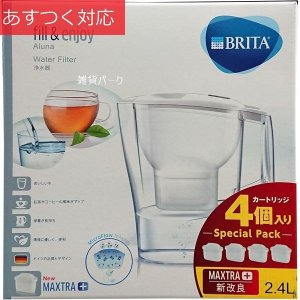 ブリタアルーナ プラス 2.4L (浄水部容量 1.4L) カートリッジ4個マクストラ専用|zakka-park