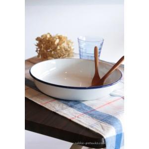 使っていく程に愛着がわく琺瑯キッチン雑貨シリーズ、かわいいプレート(ブルー)です。 この琺瑯は、光沢...