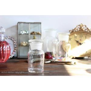薬瓶 アンティーク クリア Lサイズの写真