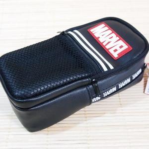 マーベル(MARVEL) メッシュポケット たて型ペンケース(ブラック) 51247 多機能 筆箱 ...