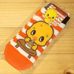日清チキンラーメン ソックス 短め靴下(オレンジ)6058|zakka-pumpkin