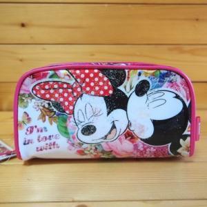 ディズニー(Disney)お花に囲まれたミッキー&ミニーのラウンド型BOXペンケースです。 ちょっと...