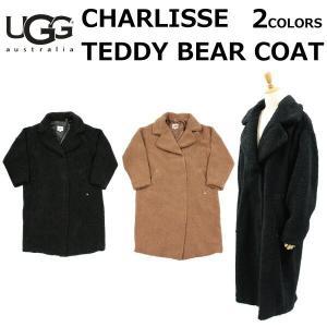 UGG アグ WOMENS CHARLISSE TEDDY BEAR COAT ウィメンズ チャリシー テディ ベア コート コート ロングコート レディース ブラック ブラウン 1104061|zakka-tokia