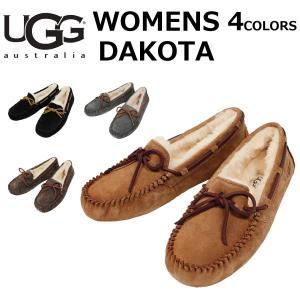UGG アグ WOMENS DAKOTA ウィメンズ ダコタ モカシン スリッポン シューズ ムートン レディース 5612