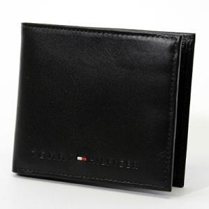TOMMY HILFIGER トミーヒルフィガー 財布 二つ折 二つ折り財布 本革 レザー メンズ レディース 96 4859 BLACK|zakka-tokia