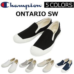 Champion チャンピオン ONTARIO SW オンタリオ College=IVY Line スウェット スリッポン シューズ メンズ ロゴ刺繍 C2M701|zakka-tokia