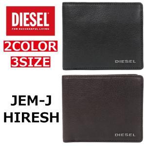 DIESEL ディーゼル JEM-J HIRESH 財布 二つ折り 二つ折り財布 ウォレット 本革 ...
