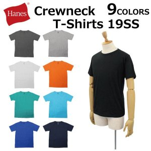 Hanes ヘインズ Crewneck T-Shirts クルーネックTシャツ カットソー 半袖 クルーネック メンズ レディース HM1P101|zakka-tokia