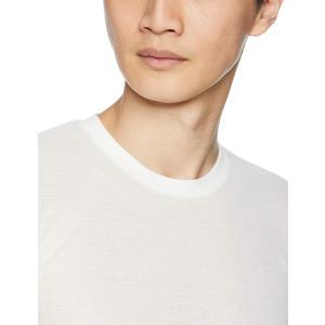 ビー・ブイ・ディ クルーネックTシャツ 吸水速乾メッシュ ULTRA DRY メンズ ホワイト 日本...