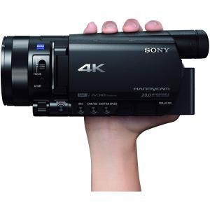 ソニー SONY ビデオカメラ FDR-AX100 4K 光学12倍 ブラック Handycam F...