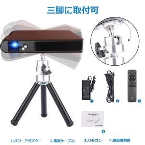 小型 LEDホームプロジェクター Wifi 1080P対応 3D モバイルプロジェクター HD DL...