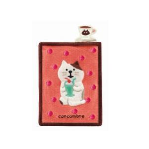 DECOLE concombre 刺繍カードポケット クリームソーダ|zakkahibinene