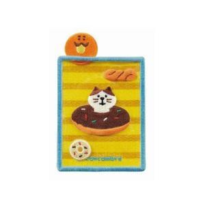 DECOLE concombre 刺繍カードポケット ドーナツ|zakkahibinene