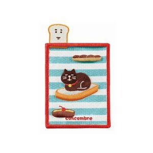 DECOLE concombre 刺繍カードポケット パン|zakkahibinene