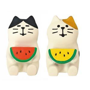 DECOLE concombre なかよしスイカ猫|zakkahibinene