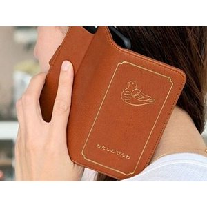 ニューレトロ 手帳型iPhoneケース 「わたしのでんわ」|zakkahibinene