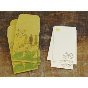 倉敷意匠計画室 トラネコボンボン ポチ袋+カードセットS (Cat)|zakkahibinene