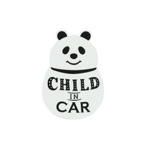 DECOLE PONOZKY リフレクターCARマグネット (CHILDパンダ)|zakkahibinene