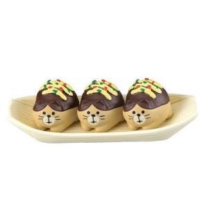 DECOLE concombre たこ焼き猫3個セット(舟皿付き) zakkahibinene