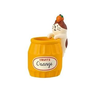 DECOLE concombre ジャム猫印鑑ポット オレンジ|zakkahibinene