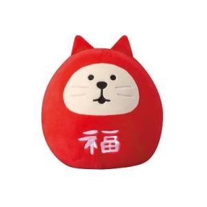 DECOLE concombre もっちりマスコット M 福猫だるま|zakkahibinene