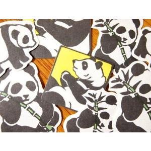 倉敷意匠計画室 ナンシー関の動物シール (パンダ)|zakkahibinene