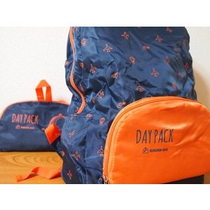 SPICE KURURIN TRAVEL D-PACK (NAVY) (消臭・抗菌機能付き)|zakkahibinene