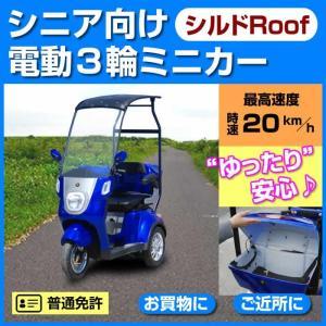 アクセス製 電動3輪車シルドRoofは、電動車椅子・パセリ(シニアカート)では物足りないそんな方向き...