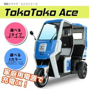 電動トライク とことこAce【3人乗りタイプ】 ライトブルー アクセス製|zakkaichibaev