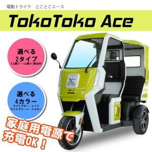 電動トライク とことこAce【3人乗りタイプ】 ライトグリーン アクセス製|zakkaichibaev