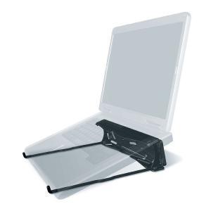 GPG2 ノートパソコン用 折りたたみ 軽量 スタンド ノートPC 持ち運び デスク MacBook対応 熱対策 (ブラック)|zakkaichiban