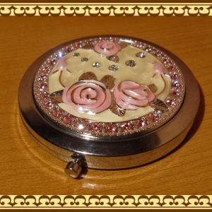 バラモチーフのコンパクトミラー(手鏡) ローズ zakkakirara