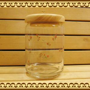 キッチン周りの見せる食器・ディスプレイに 様々な食材の収納に 木蓋のキャニスター 小花 zakkakirara
