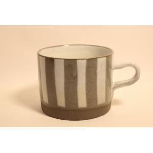 マグカップ 美濃焼 コーヒー 紅茶 スープカップ ドロップマグ ストライプ|zakkamag