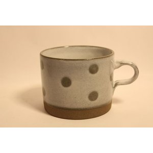 マグカップ 美濃焼 コーヒー 紅茶 スープカップ ドロップマグ ドット|zakkamag