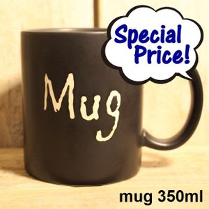 マグカップ カフェ cafe ブラック BLACK  レンジ 食洗器 OK mug 350ml|zakkamag