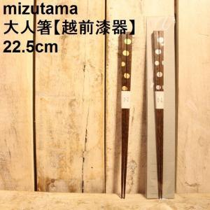 箸 大人用 漆塗り 越前漆器 先細 22.5cm mizutama|zakkamag