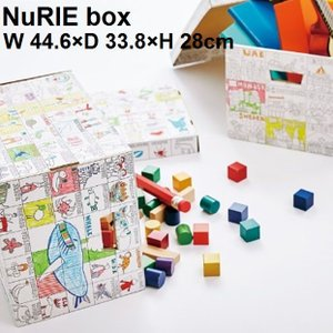 おもちゃ箱 収納 ボックス ぬりえ 塗り絵 大人 子供 MARUAI NuRIE box|zakkamag
